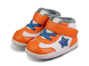 little blue lamb zimne topanky zateplene zimusne barefoot prve kroky detske cizmy beck orange