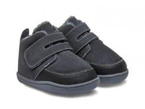 little blue lamb zimne topanky zateplene zimusne barefoot prve kroky detske biga dark grey