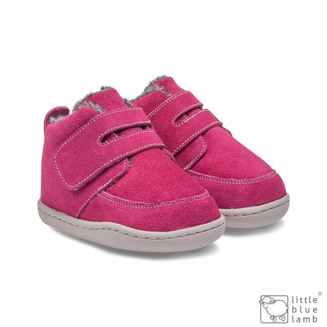 little blue lamb zimne topanky zateplene zimusne barefoot prve kroky detske biga dark pink