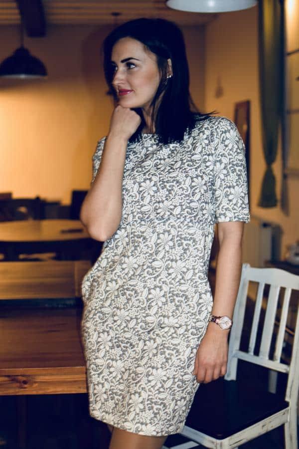 Mellien Design - Šaty na dojčenie s 3/4 rukávom - Sivá krajka 2