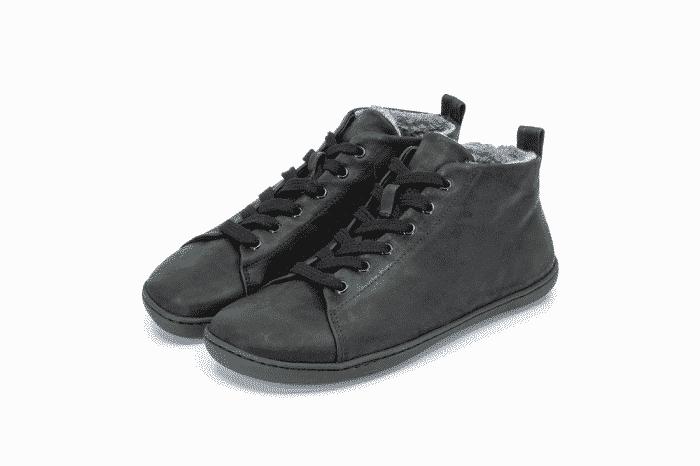 MUKISHOES - Zateplené topánky - RAW Leather Black 3