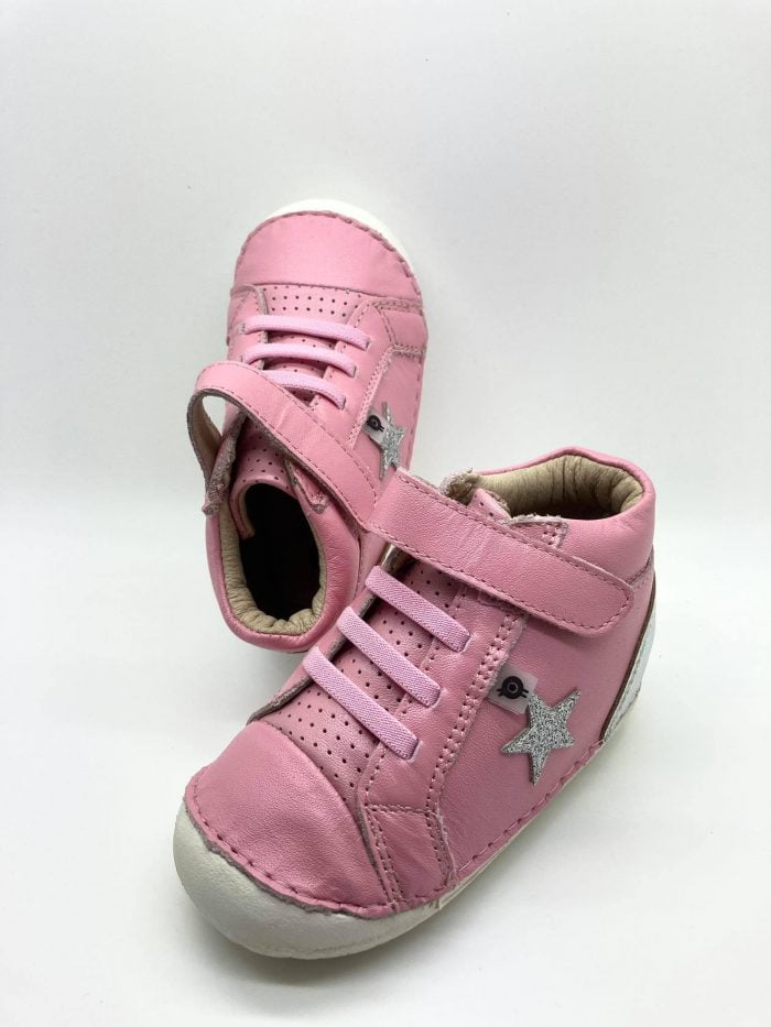 old soles champster pave pearlised pink silver glam dievcenske barefoot topanky