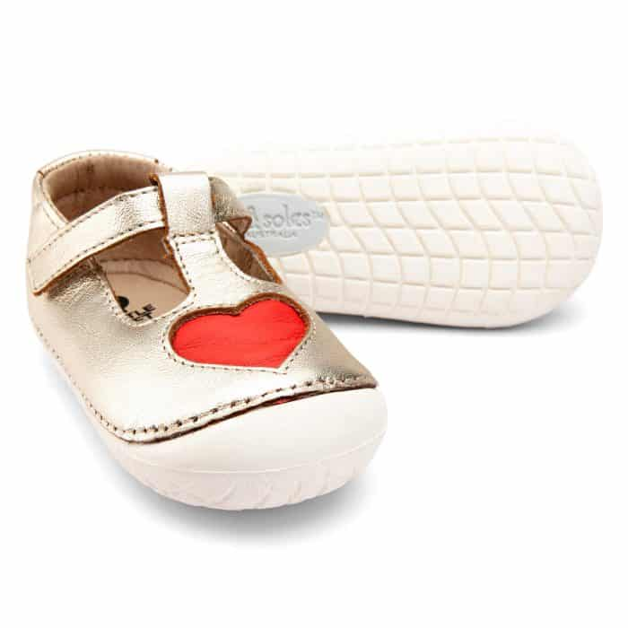 Old Soles - Pave Love - Gold/Bright Red 2