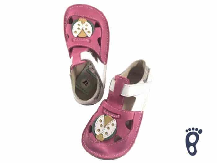 OrtoPlus - Detské sandále - Ithaka H - Ružové s lienkou 1
