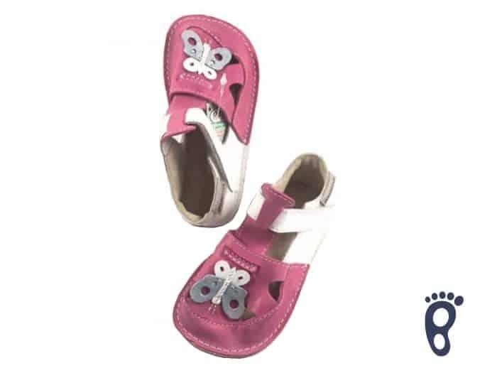 OrtoPlus - Detské sandále - Ithaka H - Ružové s motýlikom 1