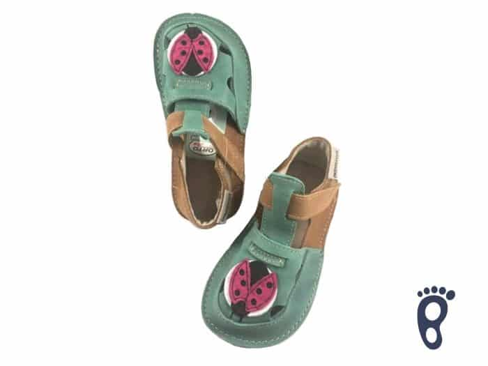 OrtoPlus - Detské sandále - Ithaka H - Zelené s lienkou 1