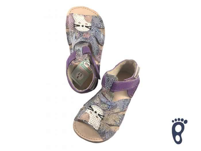 OrtoPlus - Detské sandále - Miami G - Farebné s mačičkou 1
