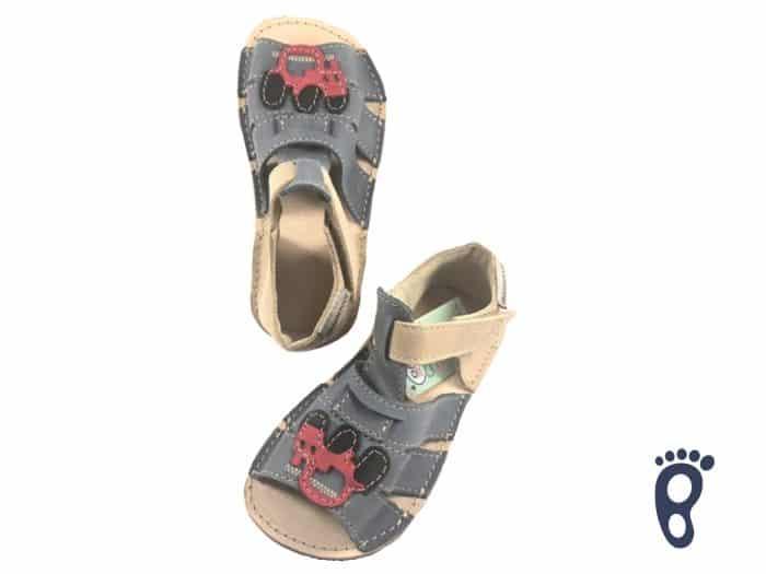 OrtoPlus - Detské sandále - Miami G - Modré s autíčkom 1