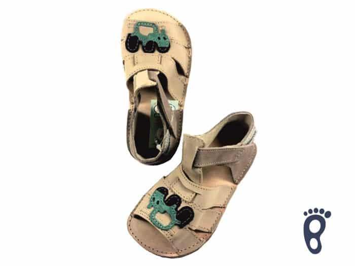 OrtoPlus - Detské sandále - Miami H - Béžové s autíčkom 1