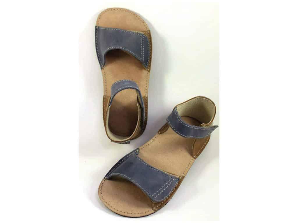 fb79f8c59206 OrtoPlus - detské sandále - hnedo-modré • Bosáčik