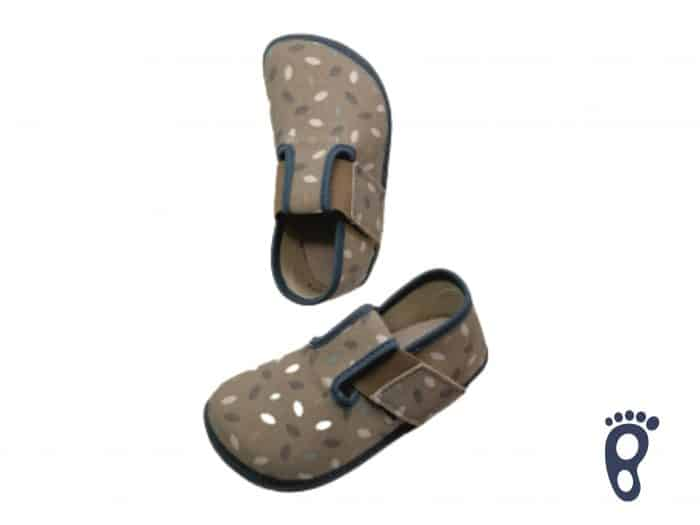 pegres papuce modre barefoot chlapcenske