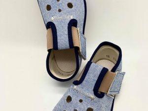 pegres barefoot papucky papuce modre s dierkami pre chlapcov chlapcenske