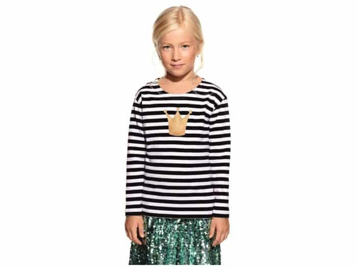 Pískacie - Tričko s dlhým rukávom - Čierne pruhy s korunkou 1