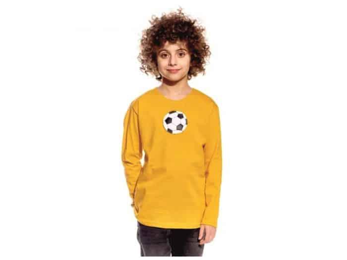 Pískacie - Tričko s dlhým rukávom - Horčicové s loptou 1