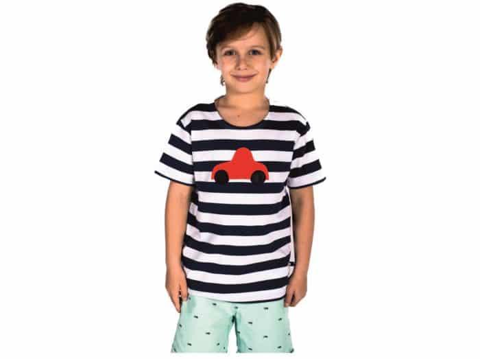 023746209d36 Home eShop Oblečenie Tričká (krátky rukáv) Pískacie – tričko s krátkym  rukávom – Červené autíčko (čierne)