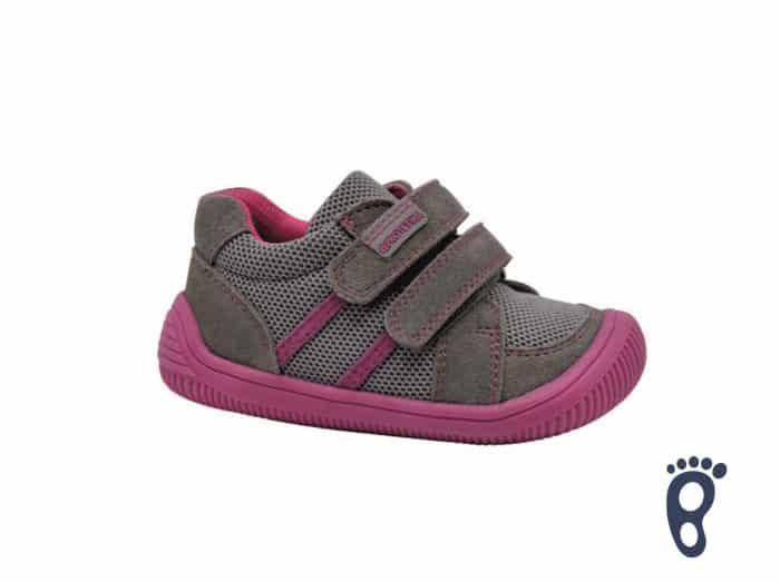 protetika barefoot brik grey prechodne topanky pre deti detske tenisky dievcenske