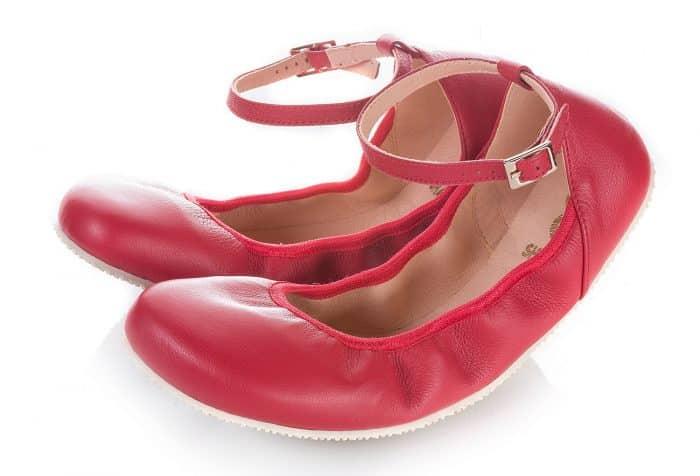 SHAPEN - Barefoot balerínky TULIP II - Cherry 1