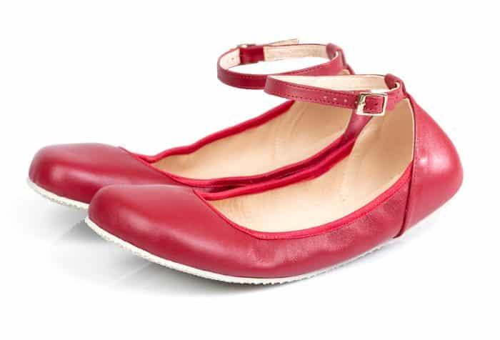 shapen damske barefoot balerinky cherry