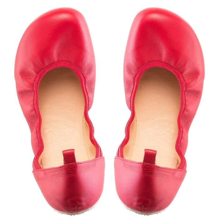 SHAPEN - Barefoot balerínky TULIP II - Cherry 2