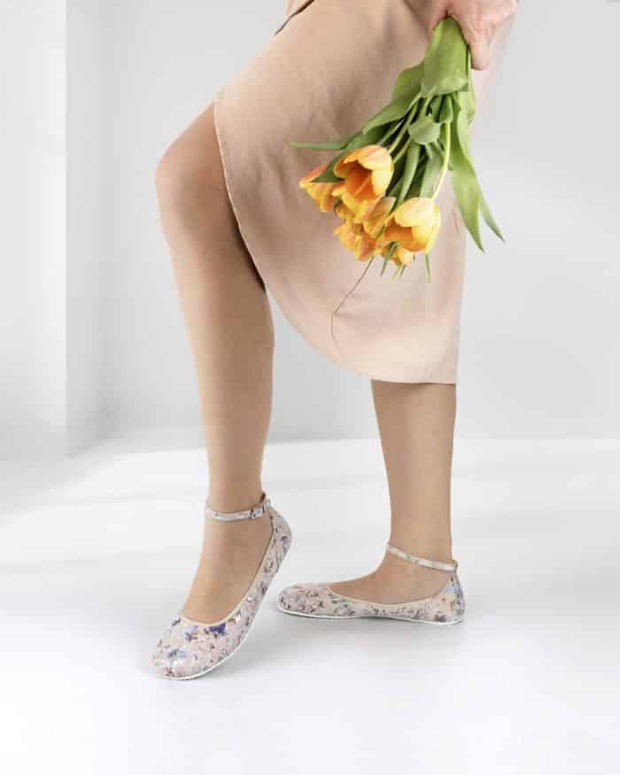 SHAPEN - Barefoot balerínky TULIP II - Flowers 7