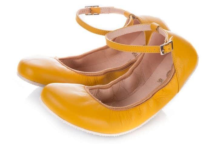 SHAPEN - Barefoot balerínky TULIP II - Sun Yellow 1