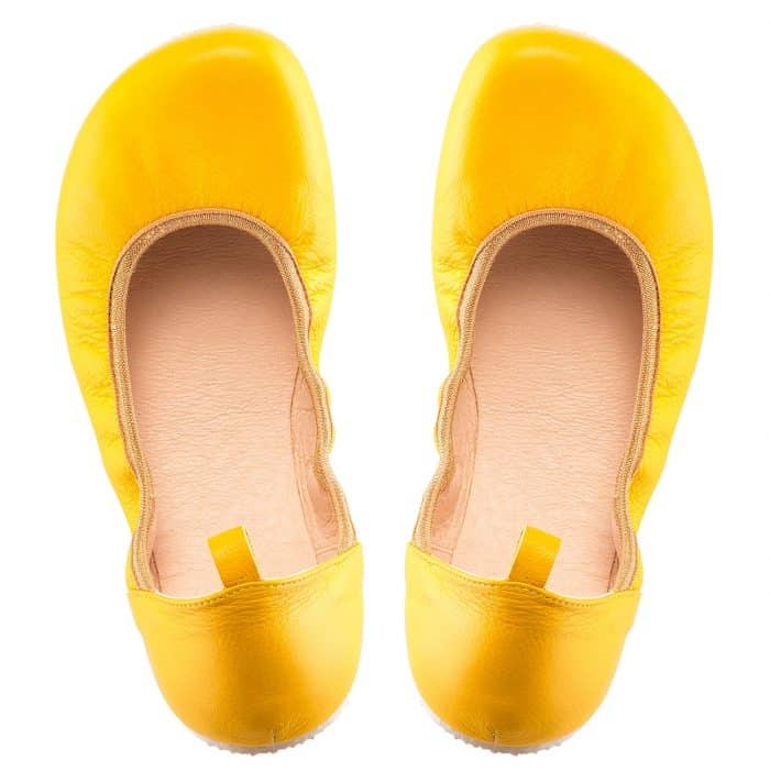 SHAPEN - Barefoot balerínky TULIP II - Sun Yellow 2