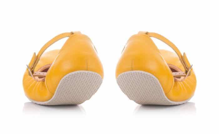 SHAPEN - Barefoot balerínky TULIP II - Sun Yellow 3