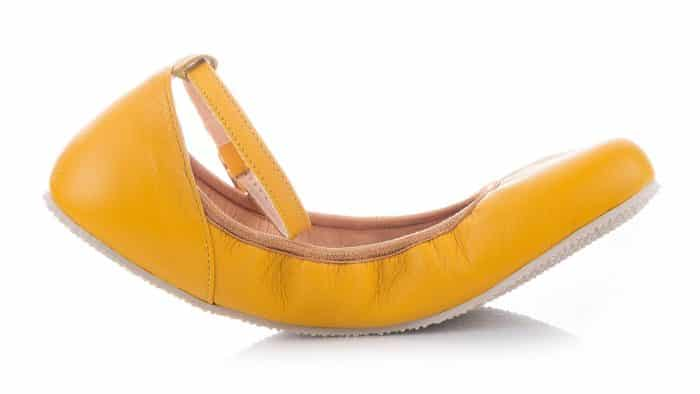 SHAPEN - Barefoot balerínky TULIP II - Sun Yellow 4