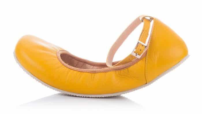 SHAPEN - Barefoot balerínky TULIP II - Sun Yellow 5