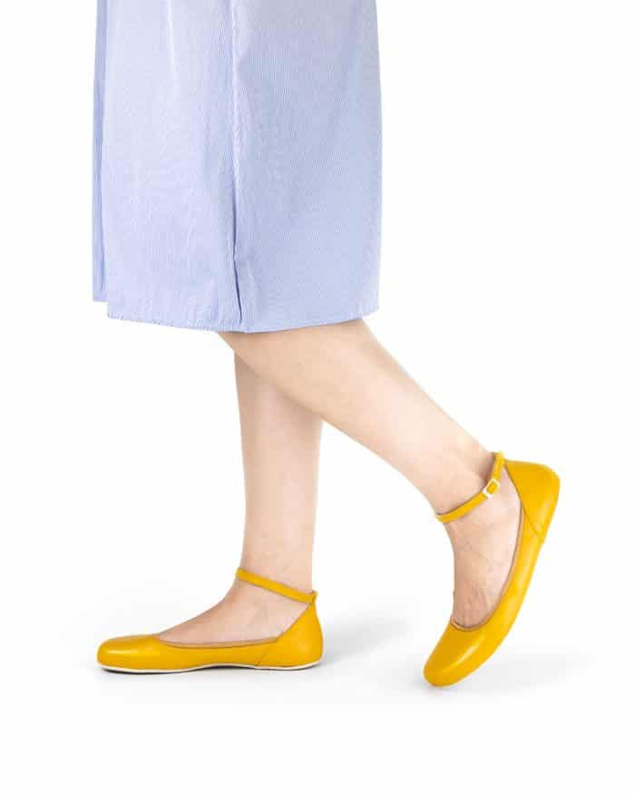 SHAPEN - Barefoot balerínky TULIP II - Sun Yellow 7