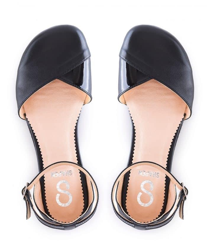 SHAPEN - Barefoot sandálky POPPY II - Black 5