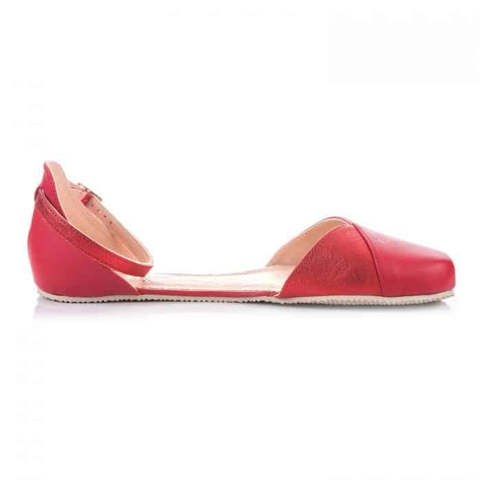 SHAPEN - Barefoot sandálky POPPY II - Cherry 1
