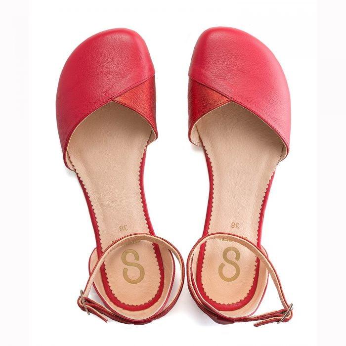 SHAPEN - Barefoot sandálky POPPY II - Cherry 5