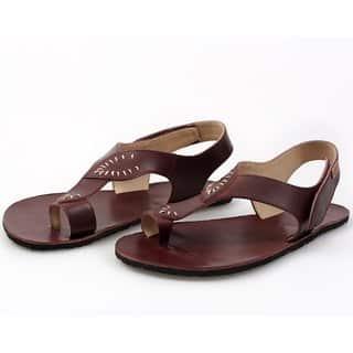 soul barefoot damske sandale burgundy