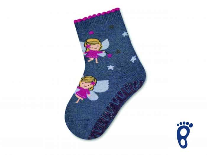 Sterntaler - Protišmykové ponožky - Dve víly - modré 1