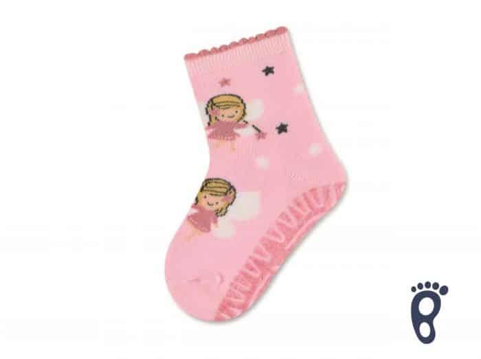 Sterntaler - Protišmykové ponožky - Dve víly - ružové 1