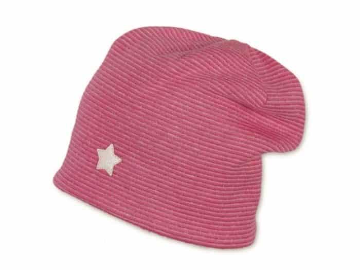 sterntaler ciapka ruzova s hviezdickou