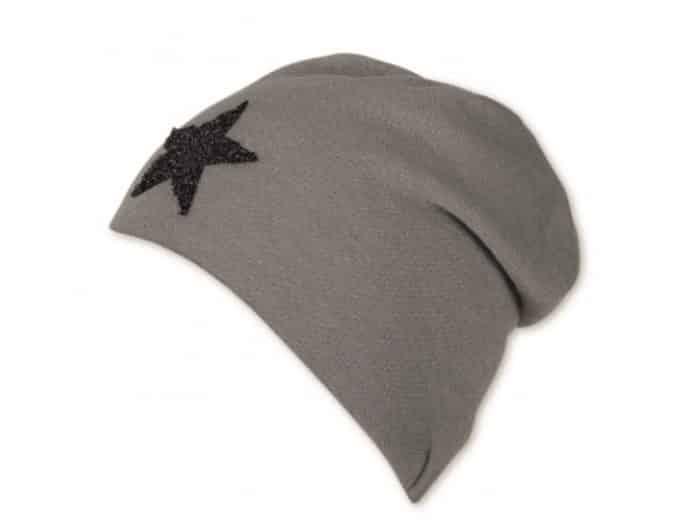 sterntaler ciapka siva s hviezdickou