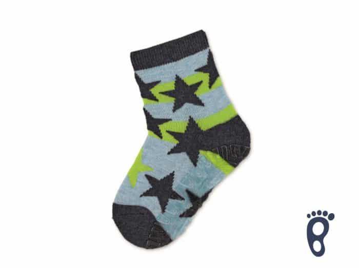 Sterntaler - Protišmykové ponožky - Hviezdy - Zelené 1