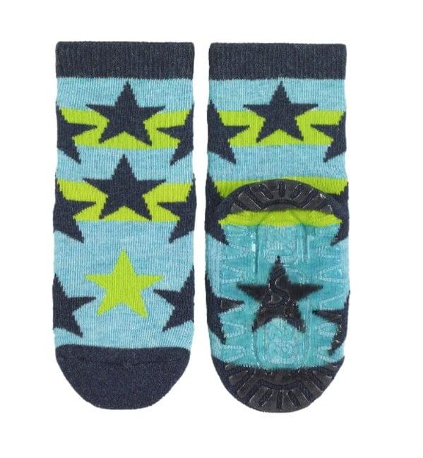 Sterntaler - Protišmykové ponožky - Hviezdy - Zelené 2
