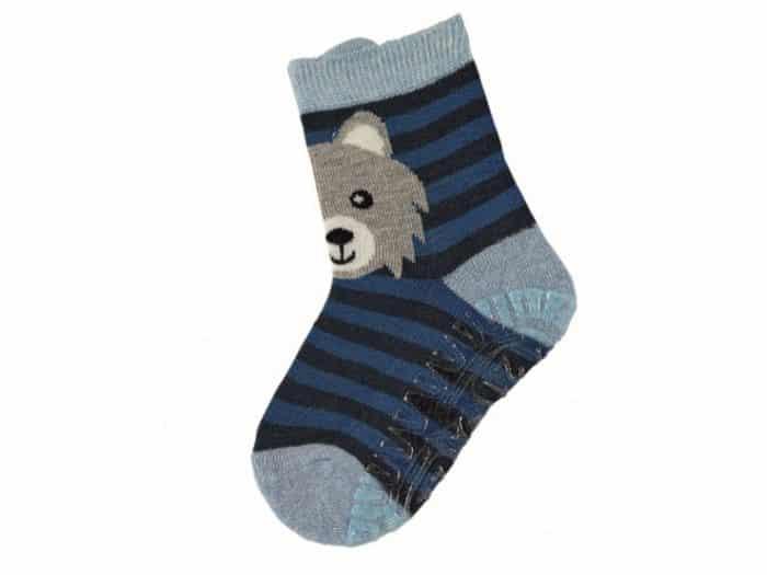 sterntaler protismykove ponozky pruhovane s mackom
