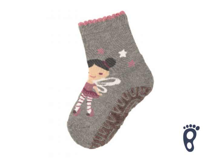 Sterntaler - Protišmykové ponožky - Víla - sivé 1