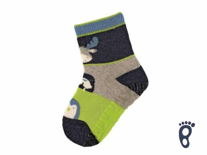 Sterntaler - Protišmykové ponožky - Zvieratká - Tmavomodré 1