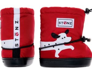 stonz booties dalmatian red