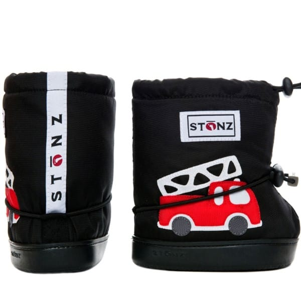 stonz booties fire truck black