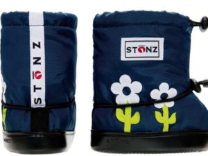 stonz booties flower green white