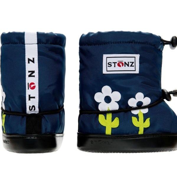 stonz booties flower green white