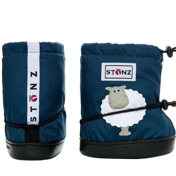 stonz booties sheep navy blue