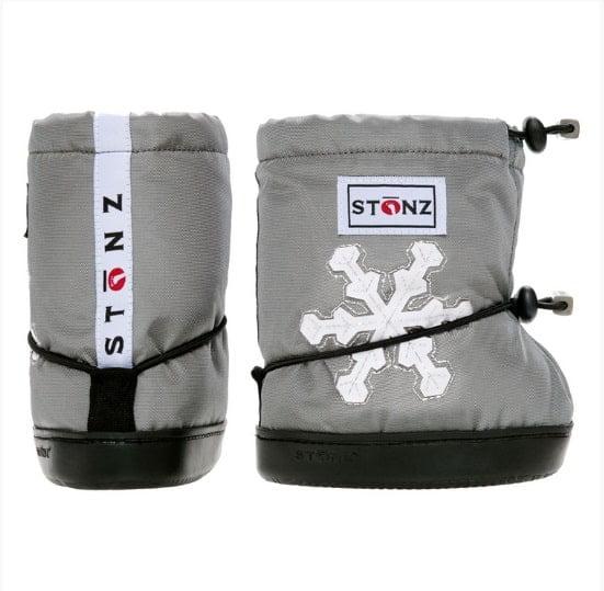 stonz booties toddler snowflake silver