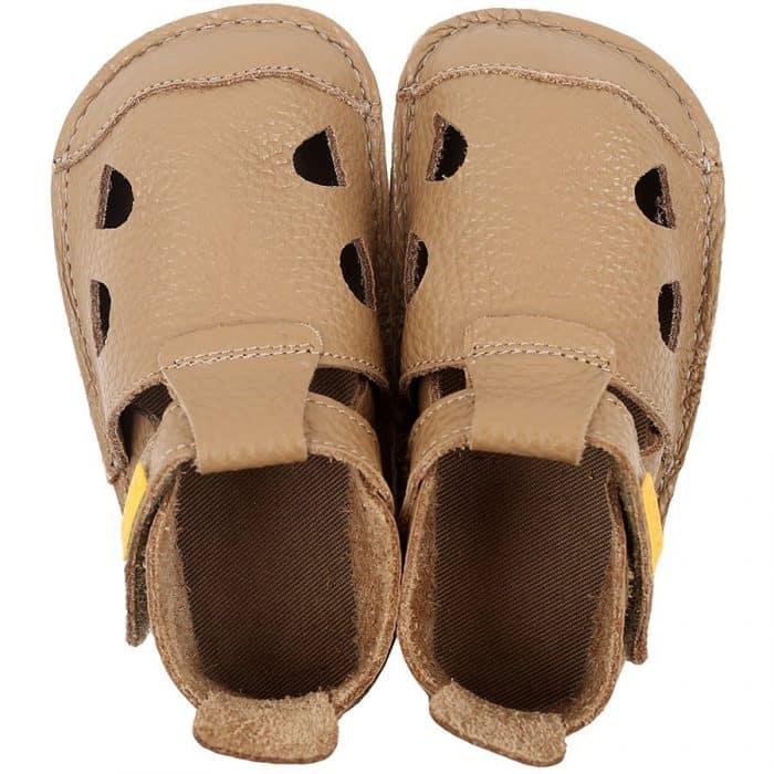 tikki barefoot sandale pre deti nido cappuccino